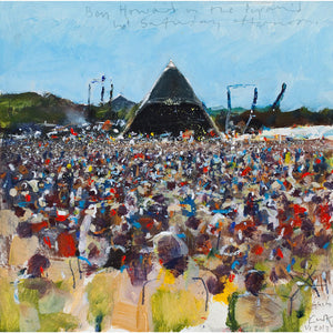 Ben Howard on the Pyramid stage, hot Saturday afternoon. 2013. Lithoprint.