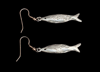 Cornish Pilchards, 2014 earrings.