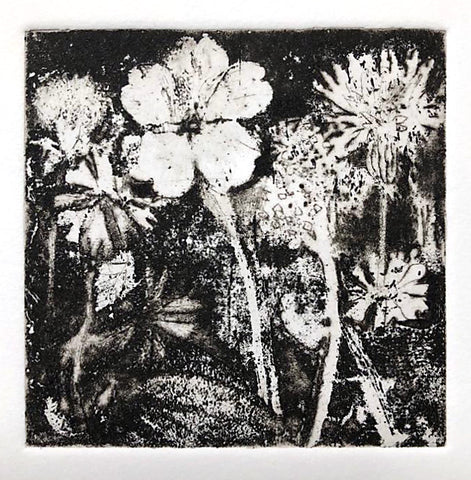 Flowers for the NHS. Etching. (2020)