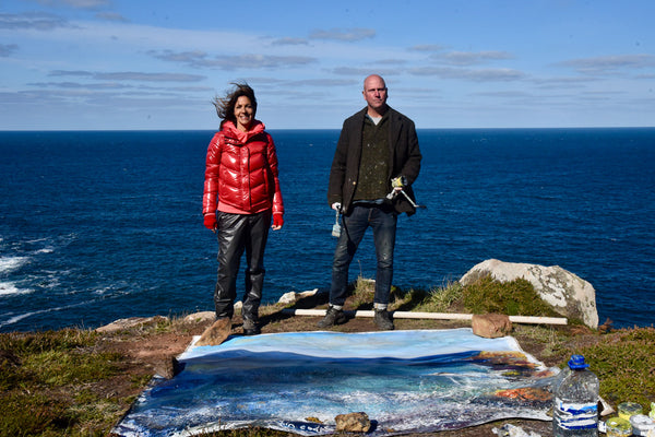 Kurt Jackson painting the original was documented as part of the ITV programme Cornwall and Devon Walks with Julia Bradbury, broadcast 6th January 2021.