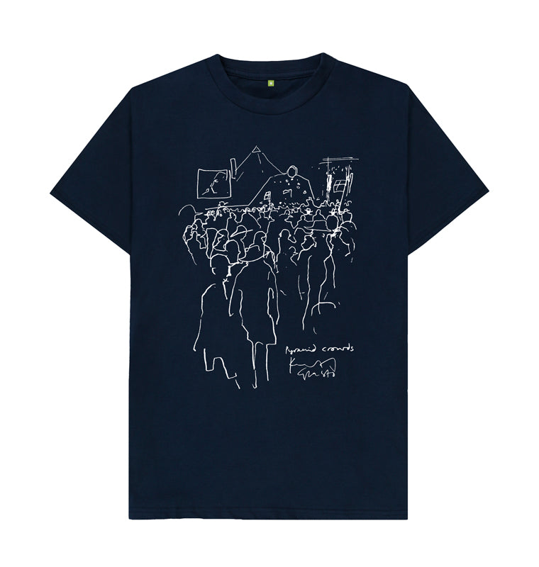 Pyramid Crowds T-Shirt. (Front)