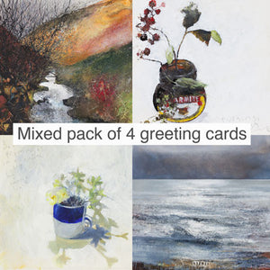 Mixed Pack of 4 Greeting Cards.