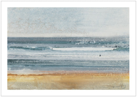 Surfing in the April showers. Postcard. Pack of 10.