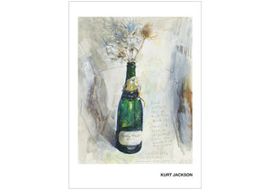 Sea holly and teasel and Camel champagne. Postcard. Pack of 10.
