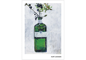 Gin and sloes. Postcard. Pack of 10.