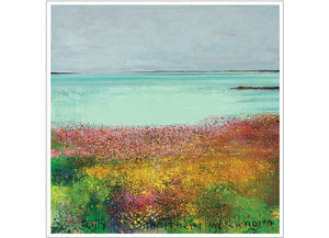 Scilly, thrift, trefoil and campion. 2018. Christmas/Greeting Card. Pack of 4.