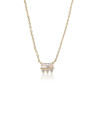 Crown Necklace | 9k Gold