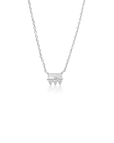 Crown Necklace | Silver