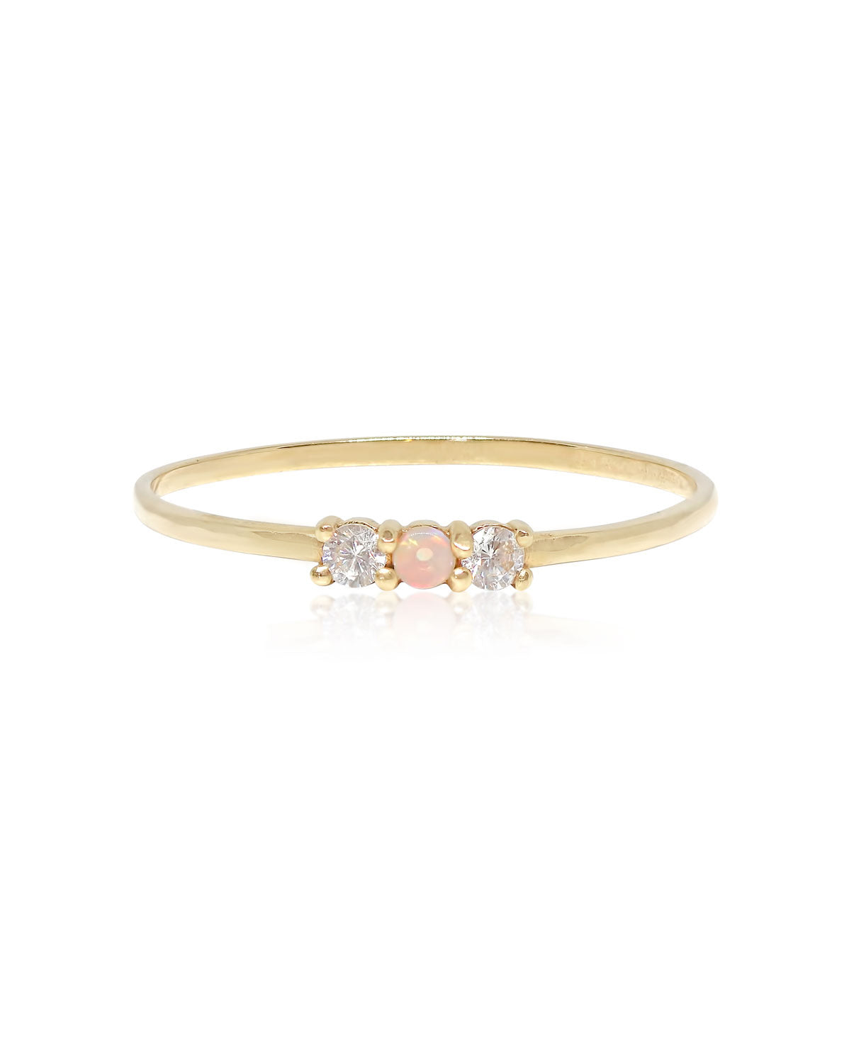 Opal Trio Ring | 9k Gold