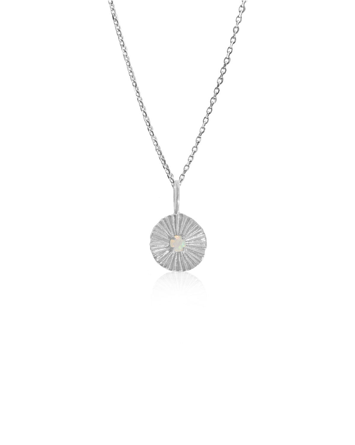 Opal Sun Necklace | Silver