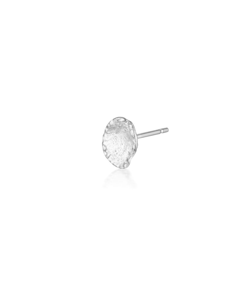 (Single) Molten Drop Stud Earring | Silver