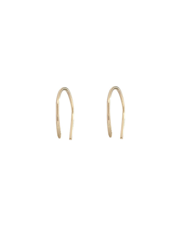 Pair of 9k arc earrings gold