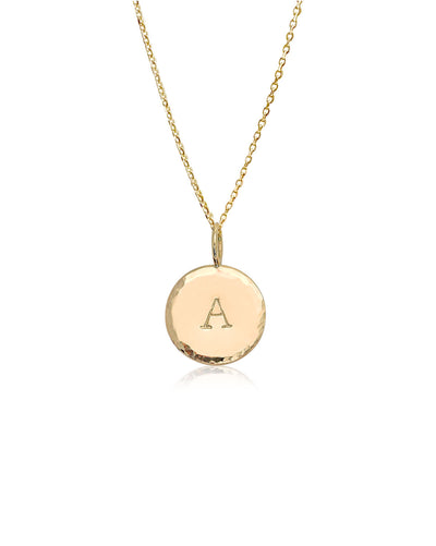 Halo Initial Necklace | 9k Gold
