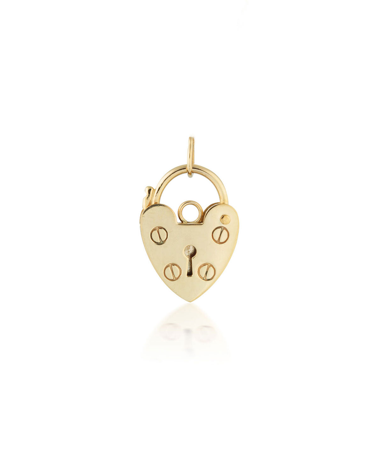 Heart Lock Pendant | 9k Gold
