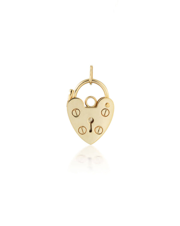 Heart Lock Pendant Gold