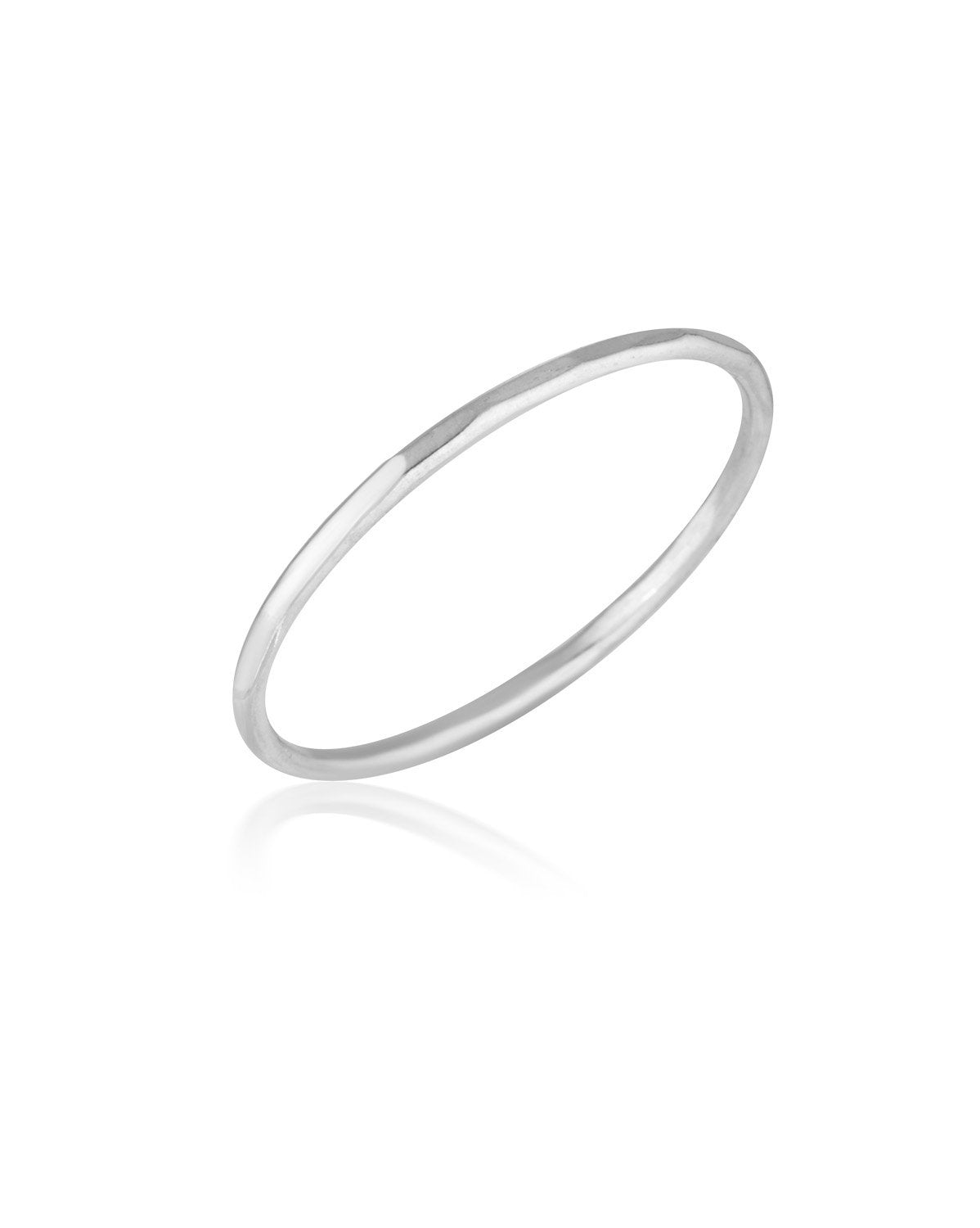 Journey Ring (Sterling Silver) by Sit & Wonder. A lightly hammered plain band.