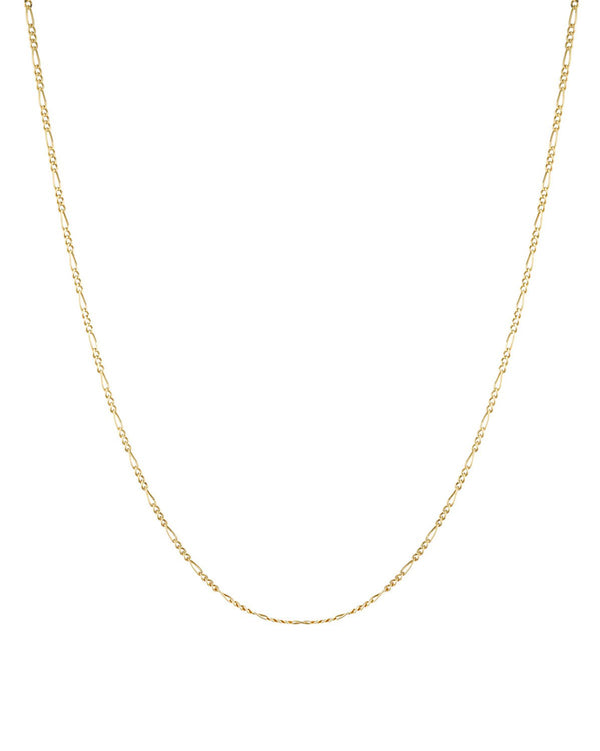 Figaro link chain (9k Yellow Gold) for layering by Sit & Wonder