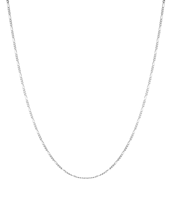 Figaro link chain (Sterling Silver) for layering by Sit & Wonder