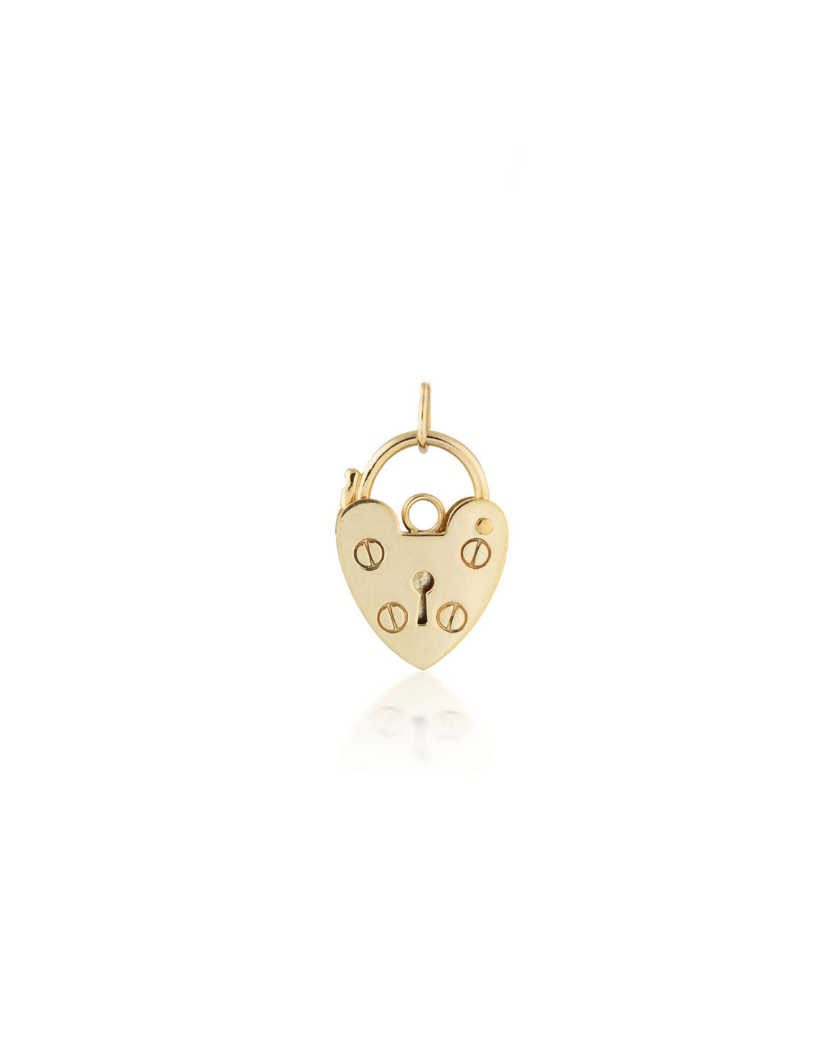 Mini Heart Lock Pendant | 9k Gold