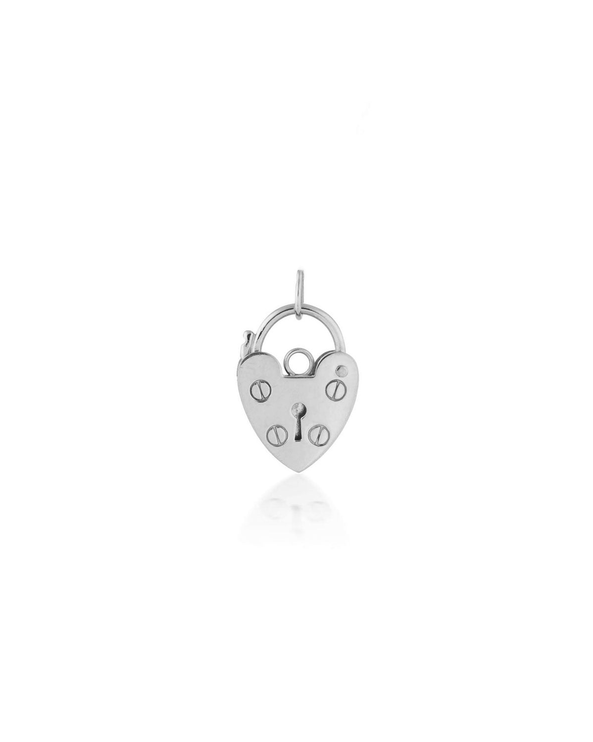 Mini Heart Lock Pendant | Silver