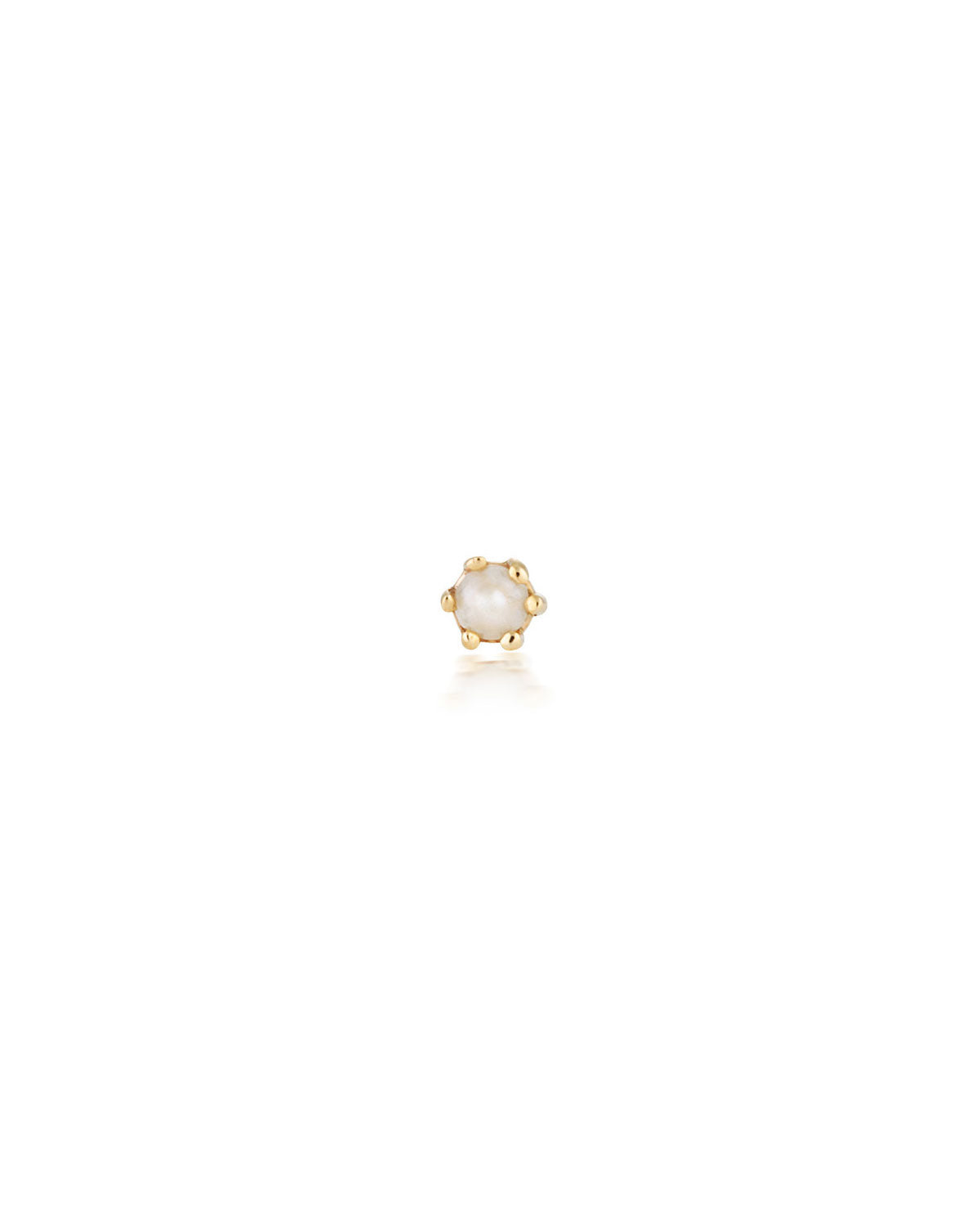 (Single) Pearl Droplet Stud Earring | 9k Gold