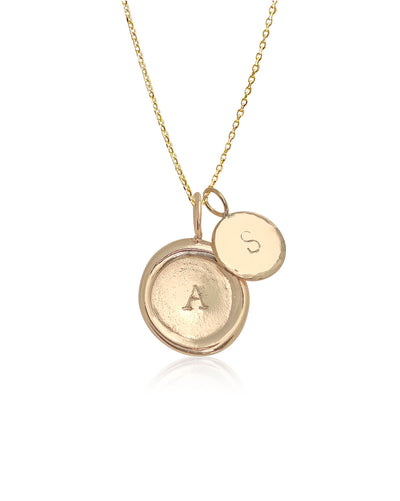 Double Initial Necklace | 9k Gold
