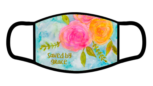 Saved by Grace Scripture Face Mask