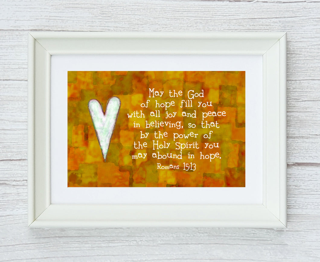 Romans 15:13 Framed Print