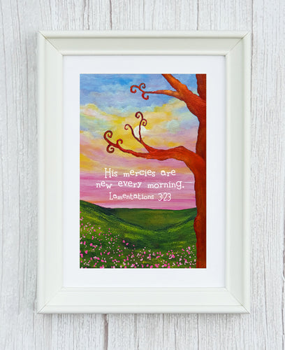 Lamentaions 3:23 Framed Print