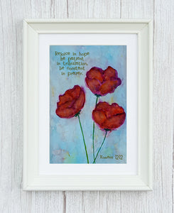 Deal of the Day Romans 12:12 Framed Print