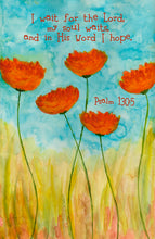 Psalm 130:5 Floral Print