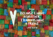 Brother Gift - Personalized Print - Digital Download