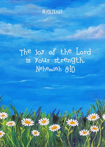 Nehemiah 8:10 the Joy of the Lord is Your Strength Bible Verse Print