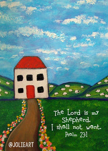 Psalm 23 1 The Lord Is My Shepherd I Shall Not Want Bible Verse Print