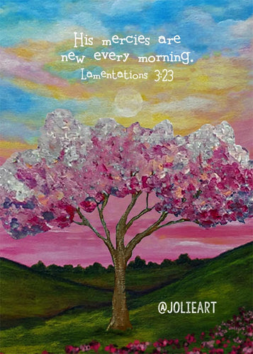 Lamentations 3:23 His Mercies Are New Every Morning Bible Verse Print