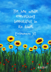 Ecclesiastes 3:11 He Has Made Everything Beautiful Bible Verse Print
