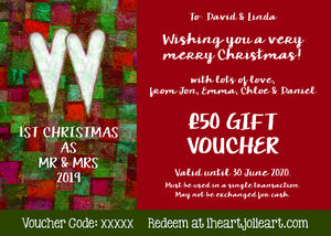 1st Christmas Gift Voucher - £10 to £100 Value