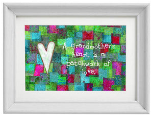 Heart is a Patchwork of Love Print