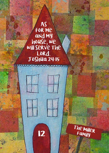 New Home Joshua 24:15 Print - Personalized Printable Download