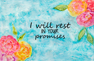 I Will Rest Framed Print