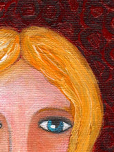 Original Portrait Painting - Whimsical Blonde Girl
