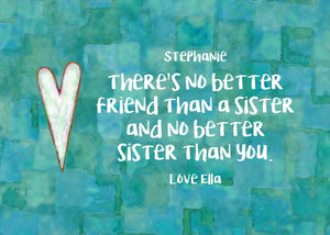 Sister Gift - Personalized Print - Digital Download