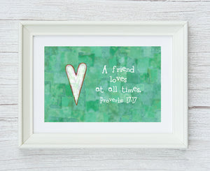 Proverbs 17:17 Framed Print