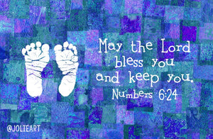 Numbers 6:24 May the Lord Bless You and Keep You Baby Boy Bible Verse Print