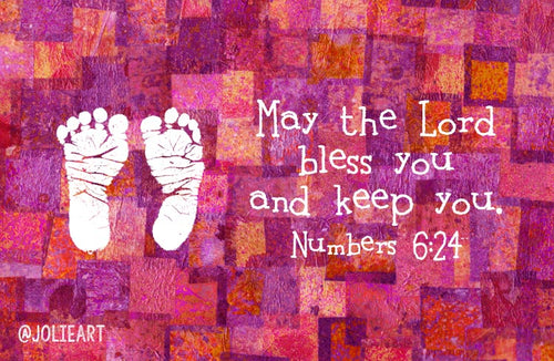 Numbers 6:24 May the Lord Bless You and Keep You Baby Girl Bible Verse Print