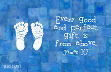 James 1:17 Every Good and Perfect Gift is from Above Baby Boy Bible Verse Print