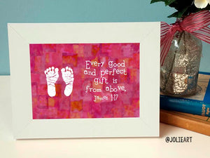 James 1:17 Every Good and Perfect Gift is from Above Baby Girl Bible Verse Print
