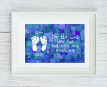 Framed Numbers 6:24 Baby Print