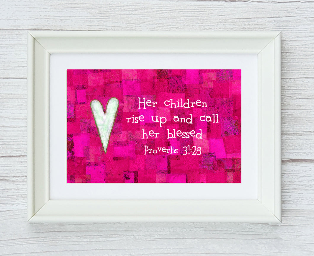Proverbs 31:28 Framed Print