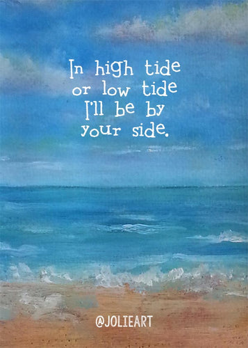In High Tide or Low Tide Beach Print
